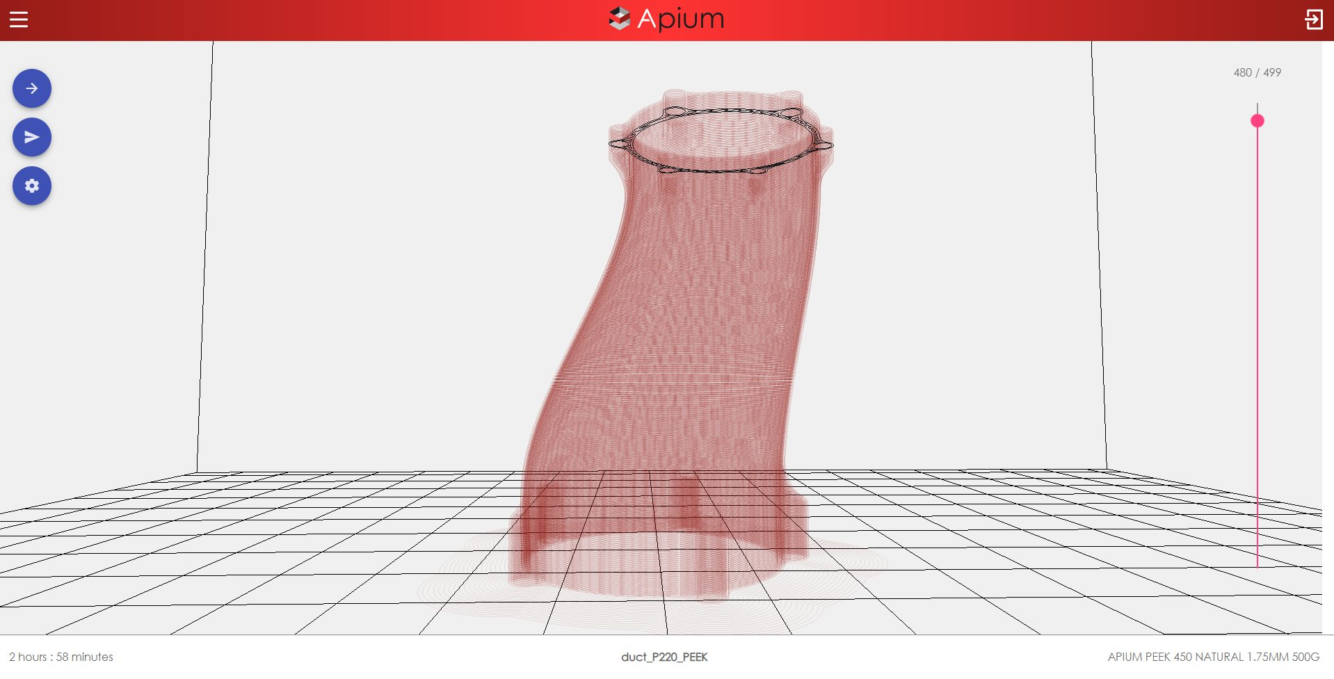G-Code for 3D Printing - Apium Slicer