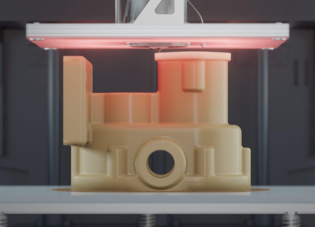 3D-Druck eines PEEK Bauteils mit einem Apium P220